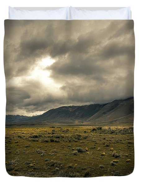 Duvet Cover featuring the photograph Golden Storm by Andrew Matwijec