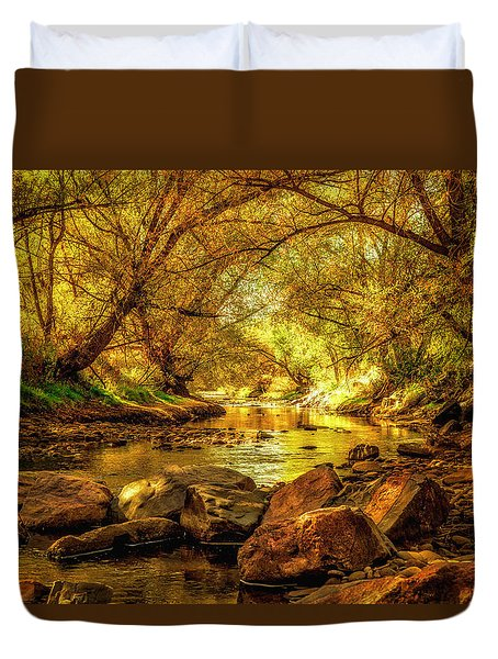 Golden Stream Duvet Cover