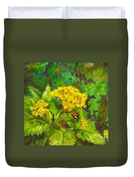 Golden Summer Blooms Duvet Cover