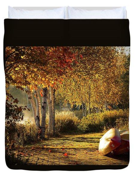Golden Sunlight Rangeley Maine Duvet Cover