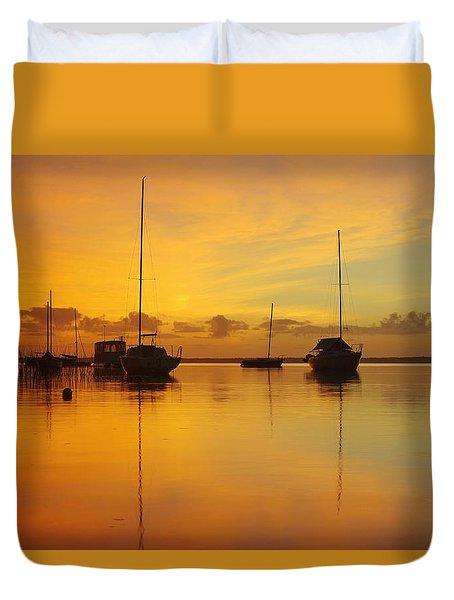 Golden Sunrise At Boreen Point Duvet Cover