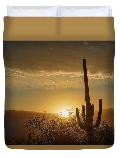 Duvet Cover featuring the photograph Golden Sunrise by Dan McManus