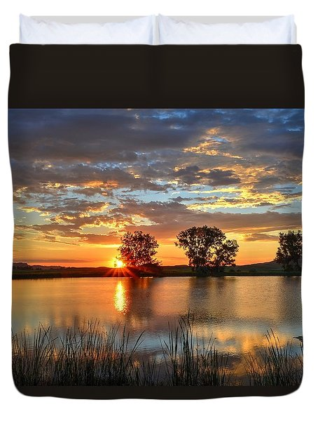 Golden Sunrise Duvet Cover