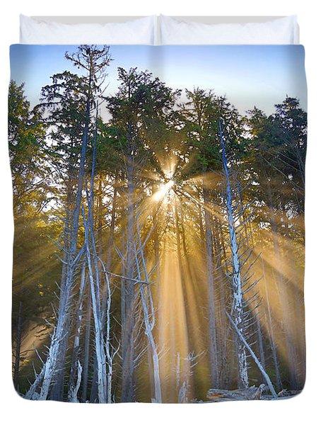 Golden Sunrise Duvet Cover by Martin Konopacki