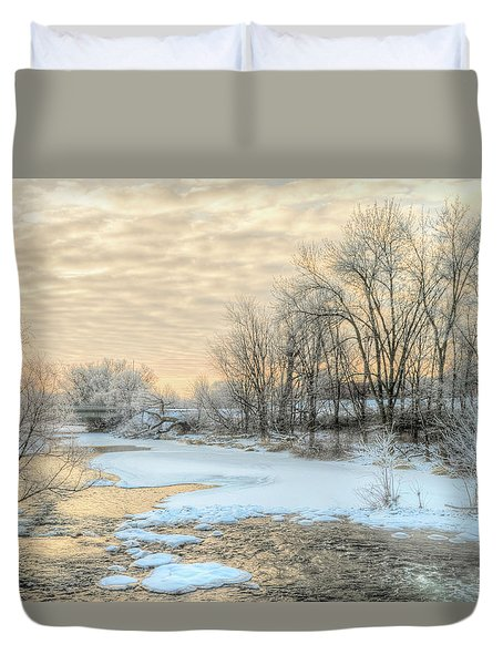 Golden Sunrise Signed Duvet Cover