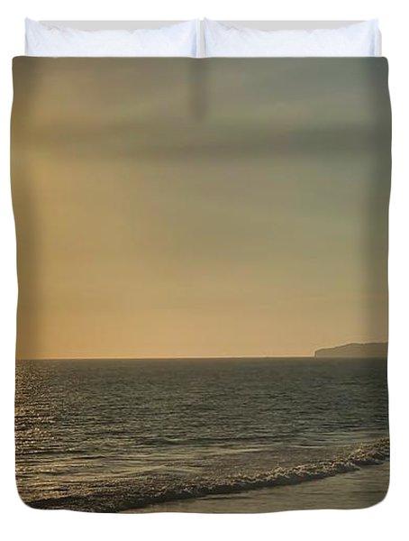 Golden Sunset Duvet Cover