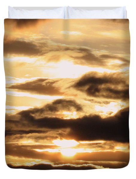 Golden Sunset Duvet Cover by Carol Groenen