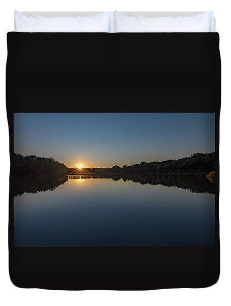 Duvet Cover featuring the photograph Golden Sunset by Charles Kraus