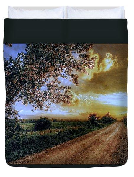 Golden Sunset Duvet Cover by Dustin Soph