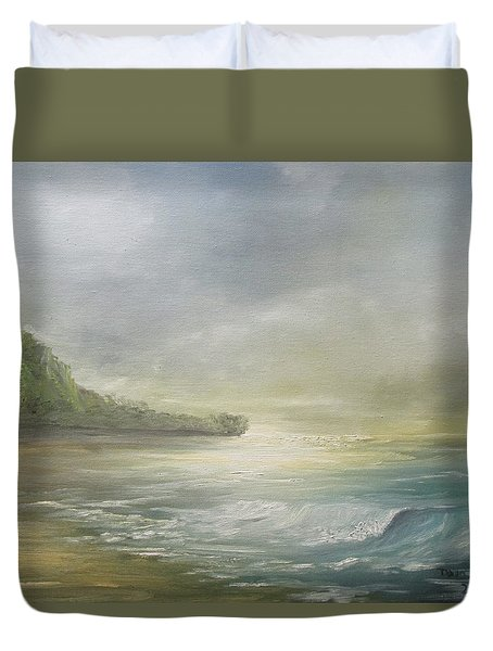 Golden Sunset Duvet Cover