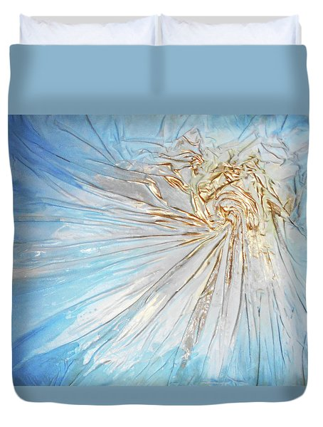 Golden Sunshine Duvet Cover by Angela Stout