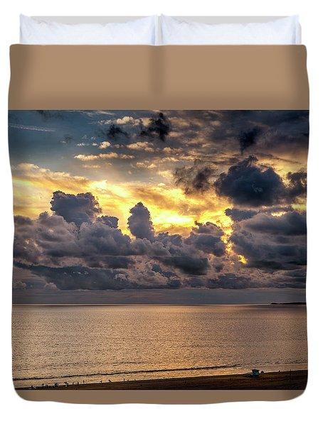 Golden Surf - Point Dume, California Duvet Cover