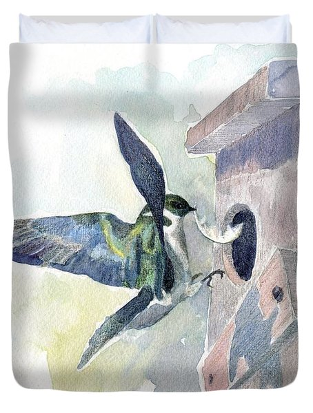 Golden Swallow Duvet Cover