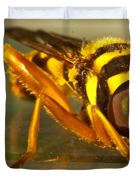 Golden Syrphid Duvet Cover