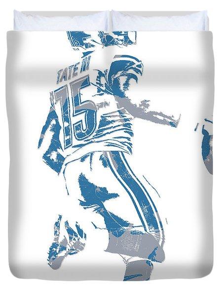 Golden Tate Detroit Lions Pixel Art 1 Duvet Cover