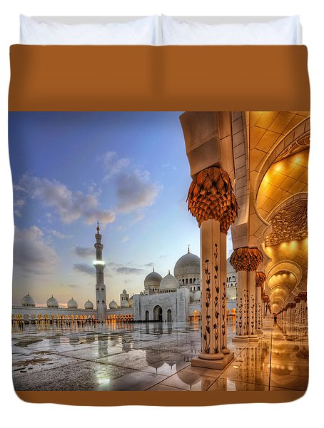 Golden Temple Duvet Cover