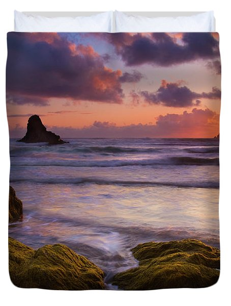 Golden Tides Duvet Cover by Mike  Dawson