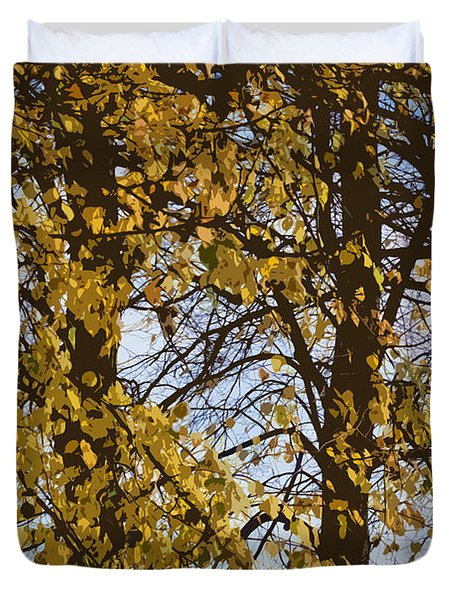 Golden Tree 2 Duvet Cover by Carol Lynch