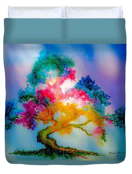 Da183 Golden Tree Daniel Adams Duvet Cover