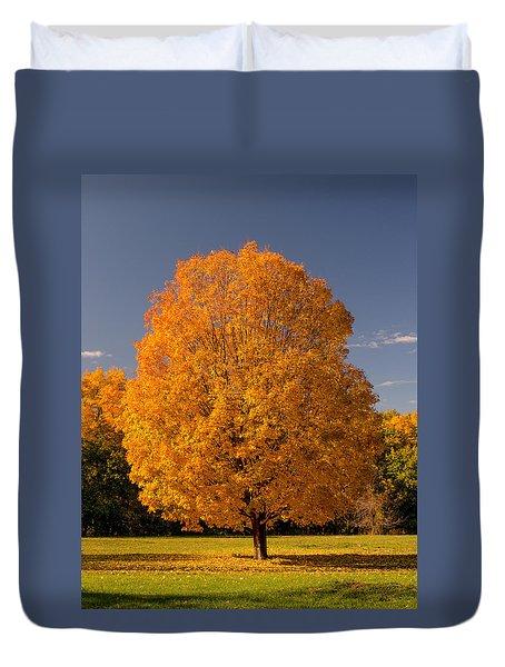 Golden Tree Of Autumn Duvet Cover