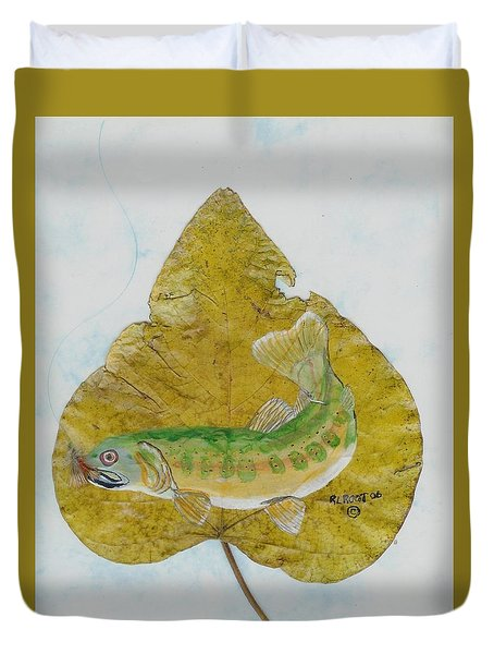 Golden Trout Duvet Cover by Ralph Root