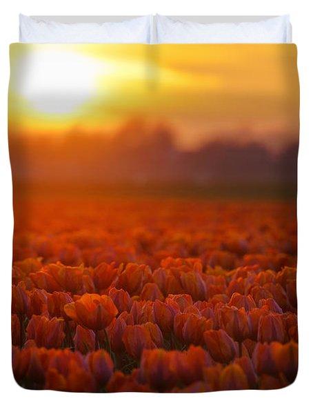 Golden Tulips Duvet Cover