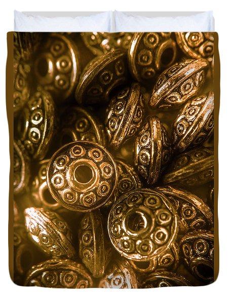 Golden Ufos From Egyptology  Duvet Cover