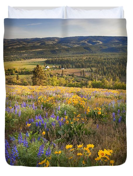 Golden Valley Duvet Cover by Mike  Dawson