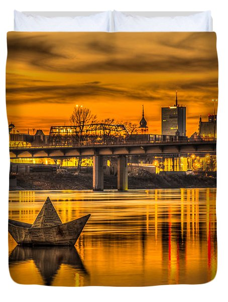 Golden Vistula Duvet Cover