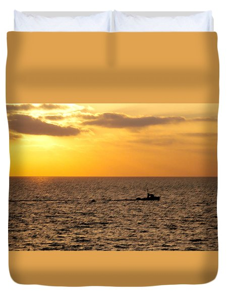 Golden Voyage Duvet Cover