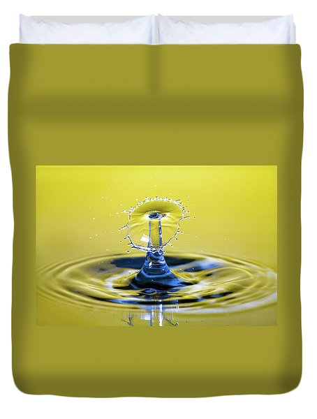 Golden Water Drop Umbrella Duvet Cover