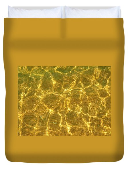 Golden Wave Duvet Cover