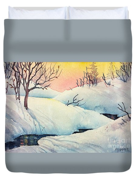 Golden Winter II Duvet Cover by Teresa Ascone