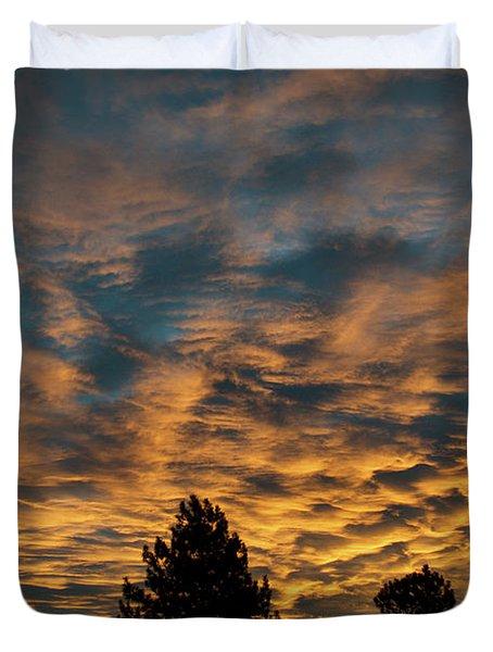Golden Winter Morning Duvet Cover
