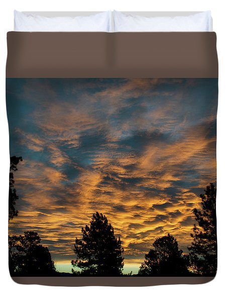 Golden Winter Morning Duvet Cover