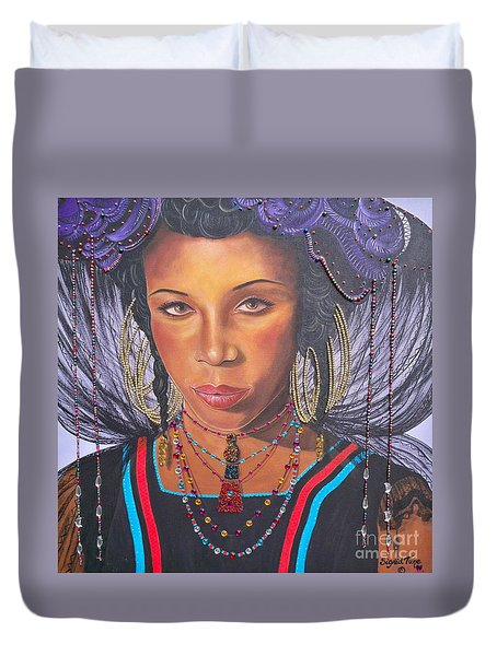 Gracious Golden Wodaabe Girl           From The Attitude Girls  Duvet Cover