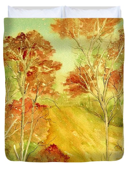 Golden Woods Duvet Cover