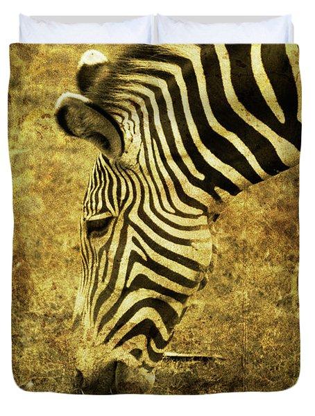 Golden Zebra  Duvet Cover by Saija  Lehtonen