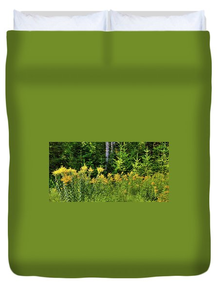 Duvet Cover featuring the photograph Goldenrod In The Adirondacks by David Patterson