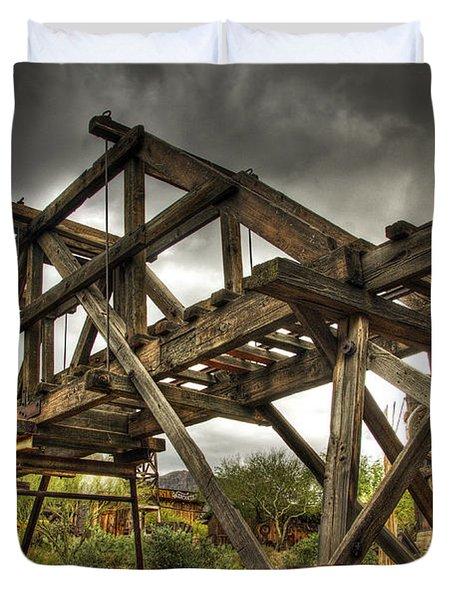 Goldfield Ghost Town - The Bridge  Duvet Cover by Saija  Lehtonen