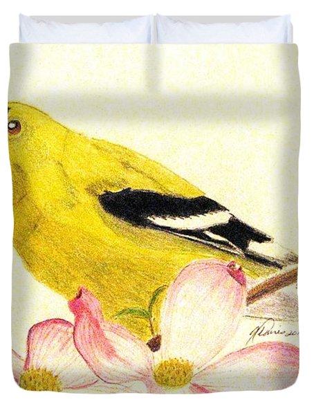 Goldfinch Spring Duvet Cover