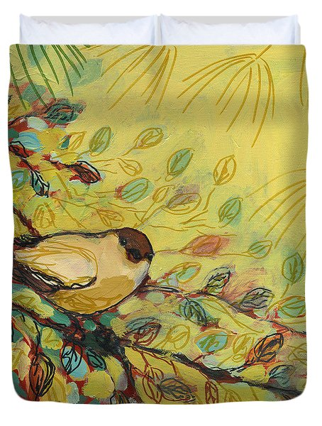 Goldfinch Waiting Duvet Cover