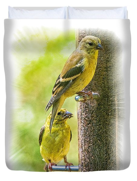 Goldfinches Duvet Cover by Constantine Gregory