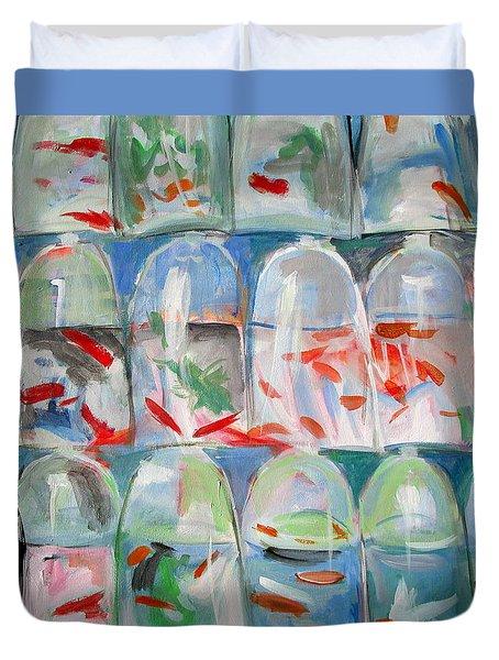 Goldfish Market Duvet Cover