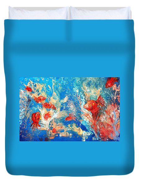 Goldfish Party Duvet Cover