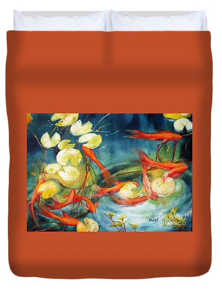 Goldfish Pond Duvet Cover