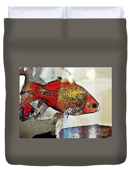 Goldfish Duvet Cover by Sarah Loft
