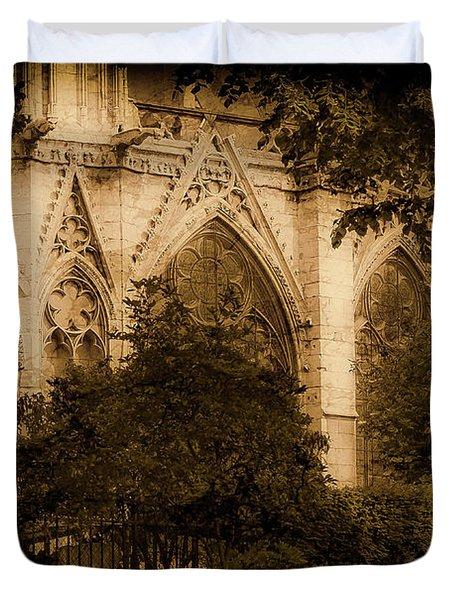 Paris, France - Goldoni In The Park Duvet Cover