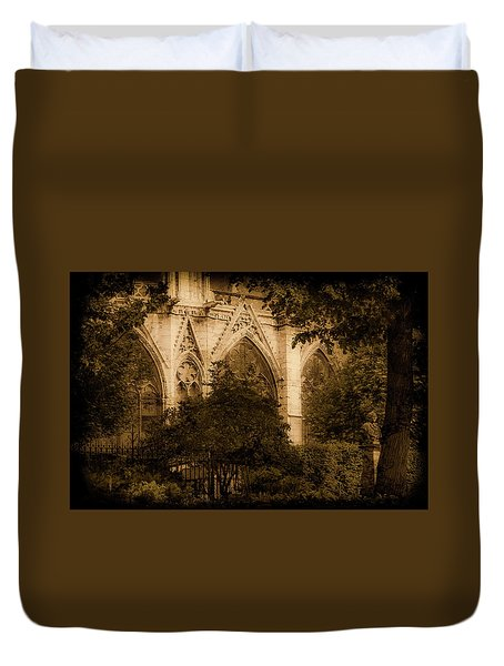 Paris, France - Goldoni In The Park Duvet Cover