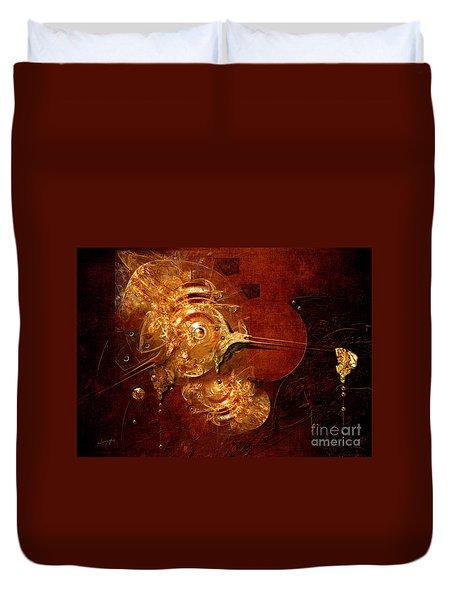 Duvet Cover featuring the digital art Goldsmith by Alexa Szlavics